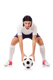 Young soccer football player Royalty Free Stock Photo