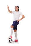 Young soccer football player Royalty Free Stock Image