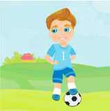 Young soccer player. Illustration Stock Image