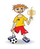 Young soccer player. Soccer player Royalty Free Stock Photography