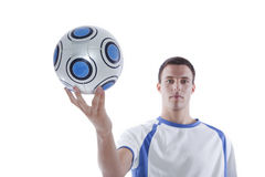 Young soccer player in action stock photos