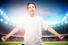 Young soccer player posing. Stock Photos