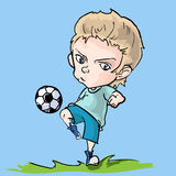 Young soccer player Royalty Free Stock Photos