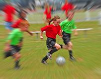 Young soccer players Royalty Free Stock Photos