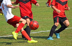 Young soccer players Stock Photo