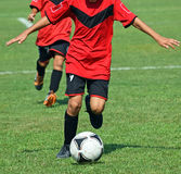 Young soccer players Stock Photography