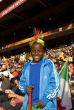 Young Soccer Supporter - FIFA WC 2010 Royalty Free Stock Photos