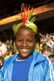 Young Soccer Supporter - FIFA WC Royalty Free Stock Photo