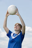 Young soccer woman Royalty Free Stock Images