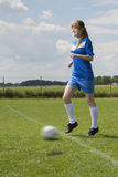 Young soccer woman Royalty Free Stock Image
