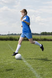 Young soccer woman Royalty Free Stock Photography