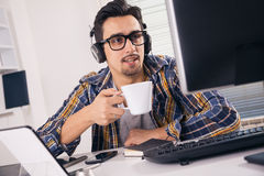 Young software engineer royalty free stock image
