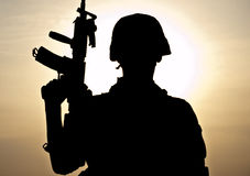 Young soldier royalty free stock photos