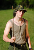 Young soldier Stock Image
