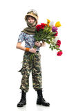Young soldier Stock Photography