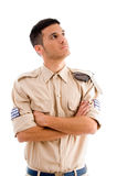 Young soldier with crossed arms Royalty Free Stock Image