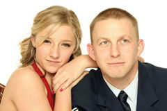 Young Soldier and His Girlfriend Royalty Free Stock Photography