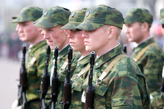 Young soldiers Stock Photo