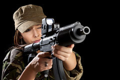 Young soldiers alluring Royalty Free Stock Photography