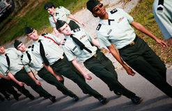 Young Soldiers Marching Stock Images