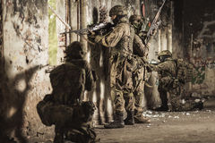 Young soldiers and snipers Royalty Free Stock Images