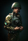 Young soldiers of the Ukrainian army Stock Images