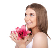 Young spa woman portrait Royalty Free Stock Photo