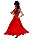 Young Spanish Flamenco Dancer in Red Dress Royalty Free Stock Images
