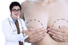 Young specialist breast cancer doctor Stock Photography