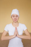 Young spiritual woman dealet mudra Ajay Stock Photography