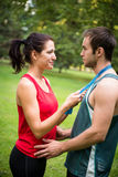 Young sport couple in love Royalty Free Stock Images