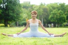Young sport girl do yoga Stock Image