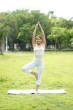 Young sport girl do yoga Royalty Free Stock Photos