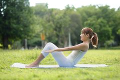 Young sport girl do yoga Stock Image