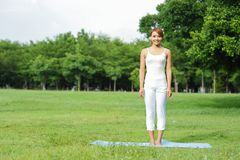 Young sport girl do yoga Stock Photo