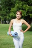Young sport girl do yoga Royalty Free Stock Photos
