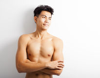 young sport man with perfect fitness body Royalty Free Stock Photos