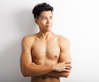 young sport man with perfect fitness body Royalty Free Stock Photography