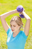 Young sport woman lift weight Royalty Free Stock Photography
