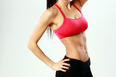 Young sport woman with perfect fitness body Stock Photo