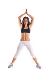 Young sportive woman  training Stock Photo