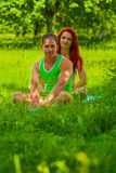 Young sports man and woman Royalty Free Stock Photo