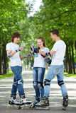Young sports people royalty free stock photos