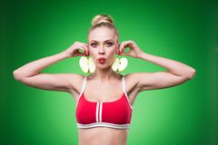Young sports sexy girl Royalty Free Stock Photography