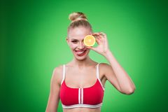 Young sports sexy girl Stock Image