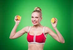 Young sports sexy girl Royalty Free Stock Photo