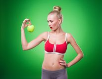 Young sports sexy girl Royalty Free Stock Image