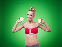 Young sports sexy girl Royalty Free Stock Photos