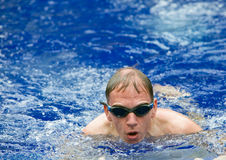 The young sports swimmer in pool Royalty Free Stock Photo