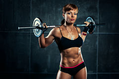 Young sports woman Stock Images